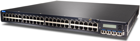 Juniper Networks EX3200-48T-DC Ethernet Switch trái góc