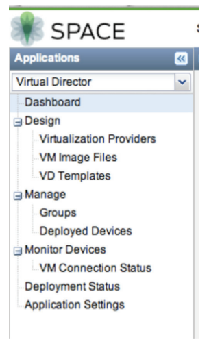 Figure 2: Junos Space Virtual Director management dashboard