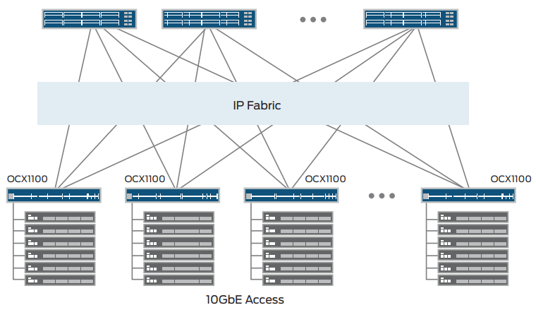 IP fabric deployment using the OCX1100